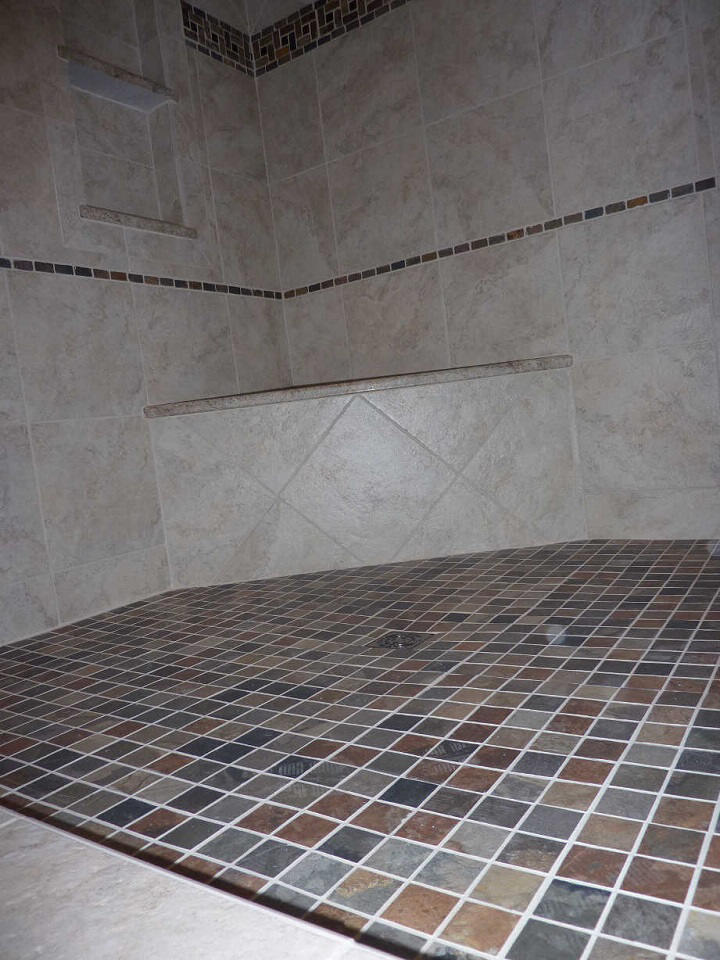 New Tile Shower Construction Scott Herndon Homes General