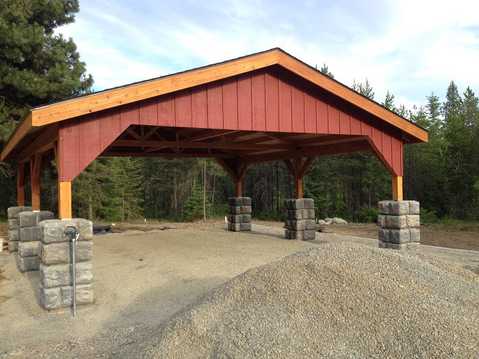 Post And Beam Carport : Sandpoint contractor builds post and beam carport scott